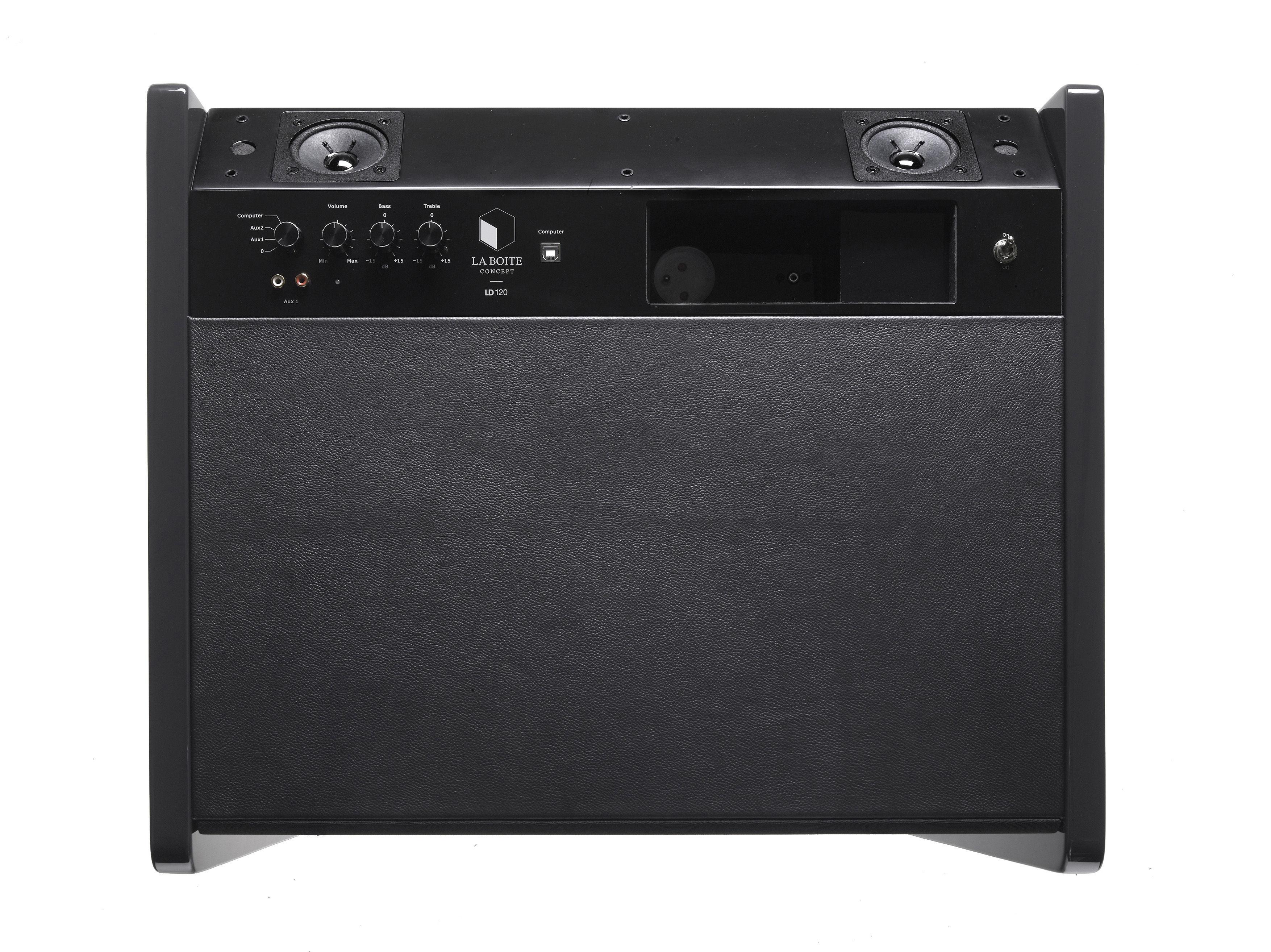 enceinte bluetooth ld 120 pour ordi portable ipod iphone l 57 cm noir la bo te concept. Black Bedroom Furniture Sets. Home Design Ideas