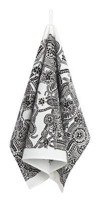 Torchon Näsiä - Marimekko blanc,noir en tissu