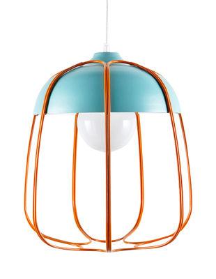 Suspension Tull / Ø 36 x H 40 cm - Incipit Orange,Turquoise en Métal