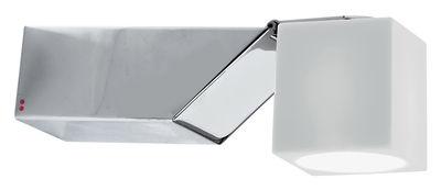 Applique Cubetto White Glass orientable Fabbian blanc en métal
