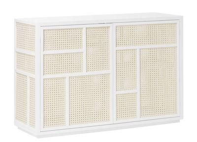 Buffet Air / Meuble TV - Cannage rotin - L 120 cm - Design House Stockholm blanc,rotin naturel en rotin & fibres