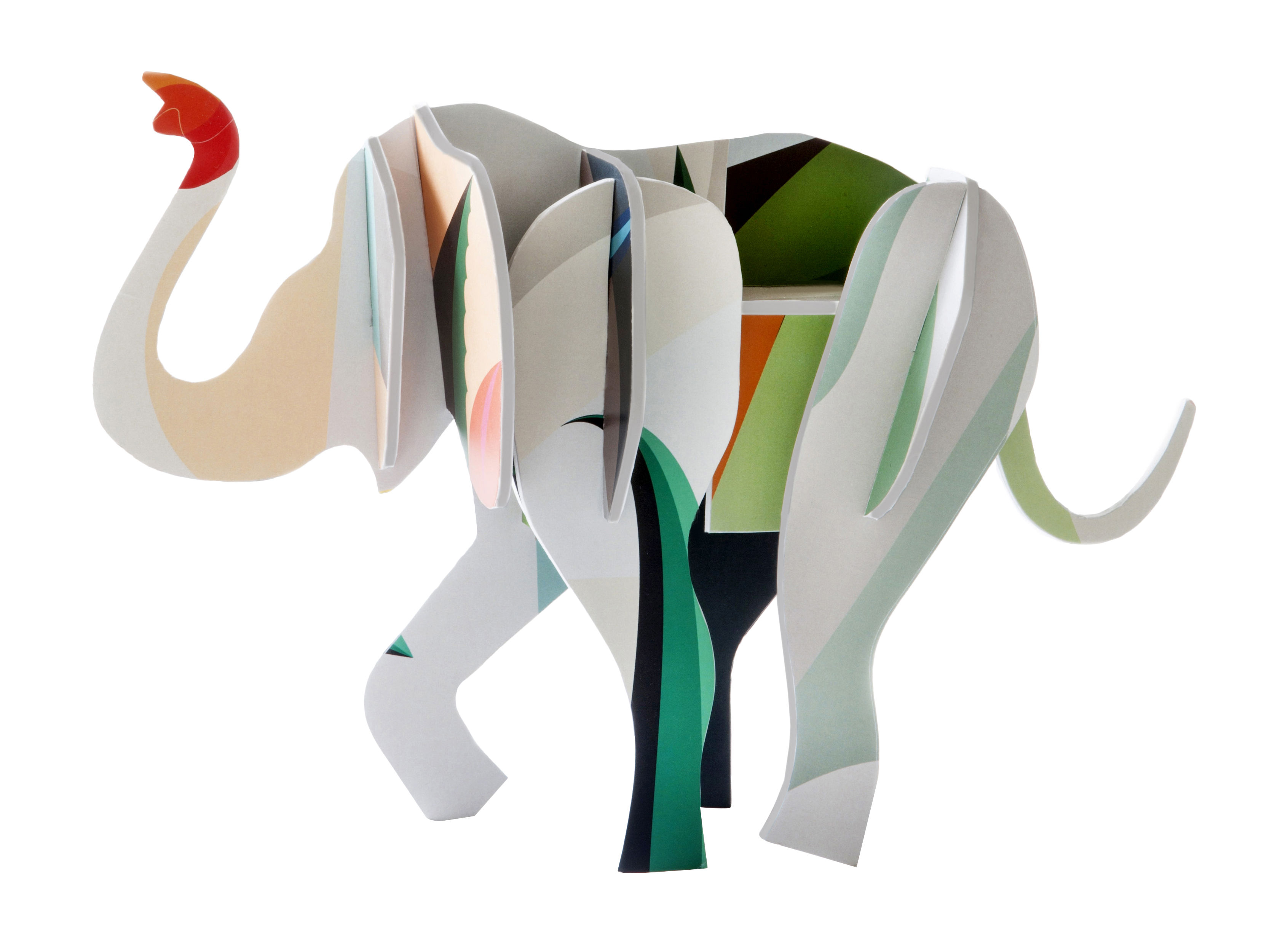 Totem Figurine Elephant Cardboard