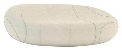 Divano destro Gilda - Livingstones - Versione in lana da interno di Smarin - Bianco - Tessuto