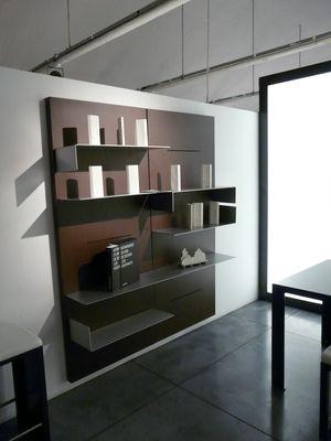 biblioth que iwall panneau mural l 80 cm x h 190 cm rouille zeus. Black Bedroom Furniture Sets. Home Design Ideas