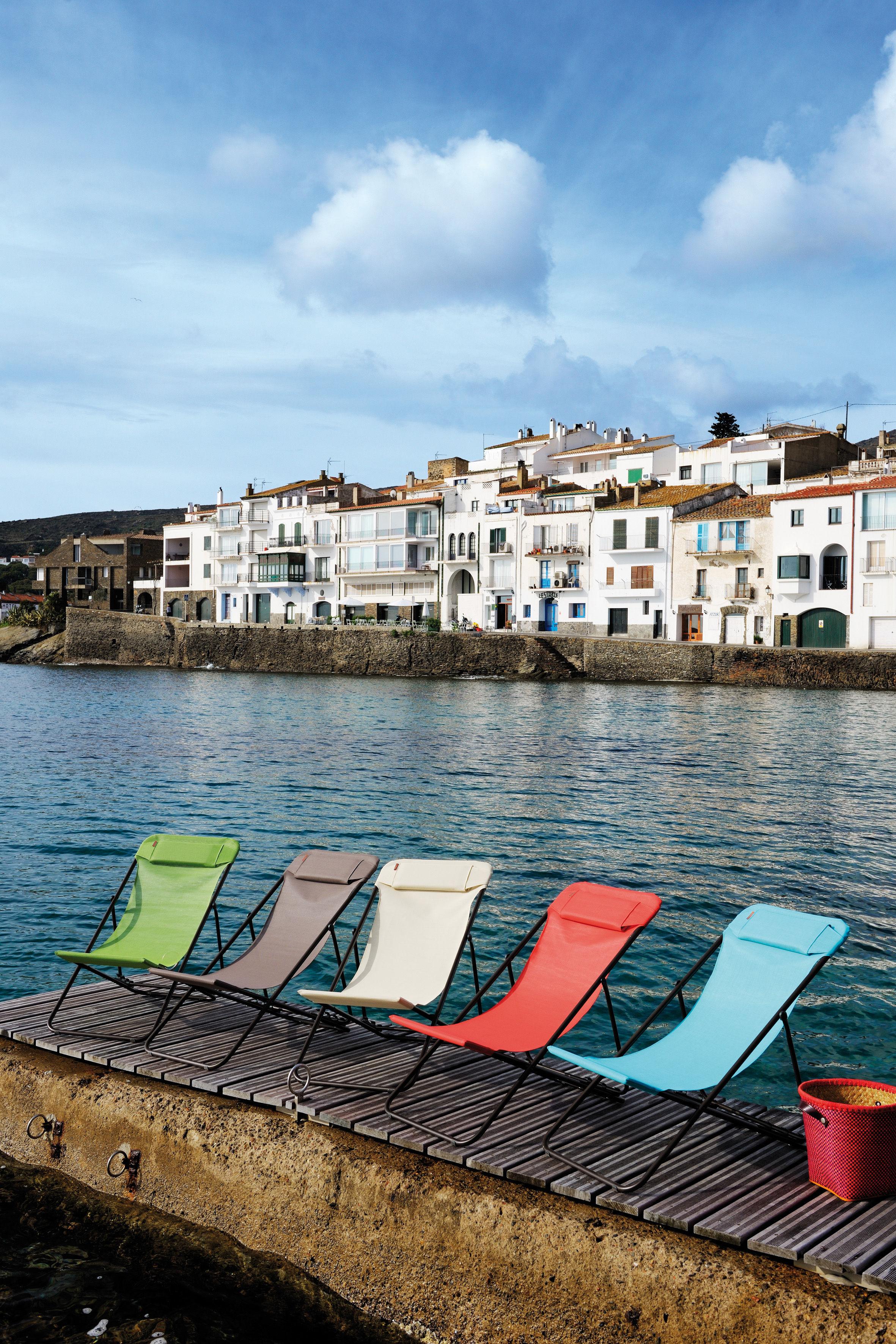 Toile de rechange pour chaise longue transaluxe ecorce - Chaises longues lafuma ...