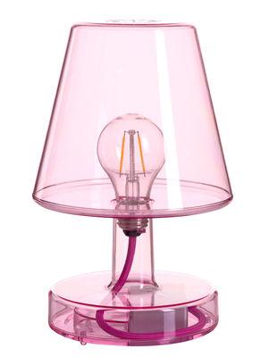 Lampe sans fil Transloetje / LED - Ø 16 x H 25 cm - Fatboy violet transparent en matière plastique