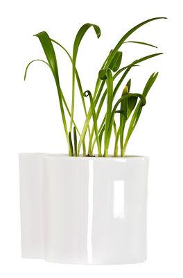Pot de fleurs mural Hover / Porcelaine - Ø 12 cm - Thelermont Hupton blanc en céramique