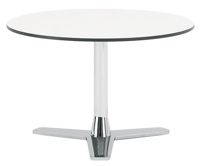 Mobilier - Tables basses - Table basse Propeller - Offecct - Blanc / pied chromé - Acier chromé, Stratifié compact