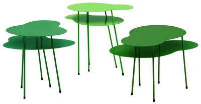 Tavolino Amazonas - Set di 3 tavoli di Offecct - Verde - Metallo
