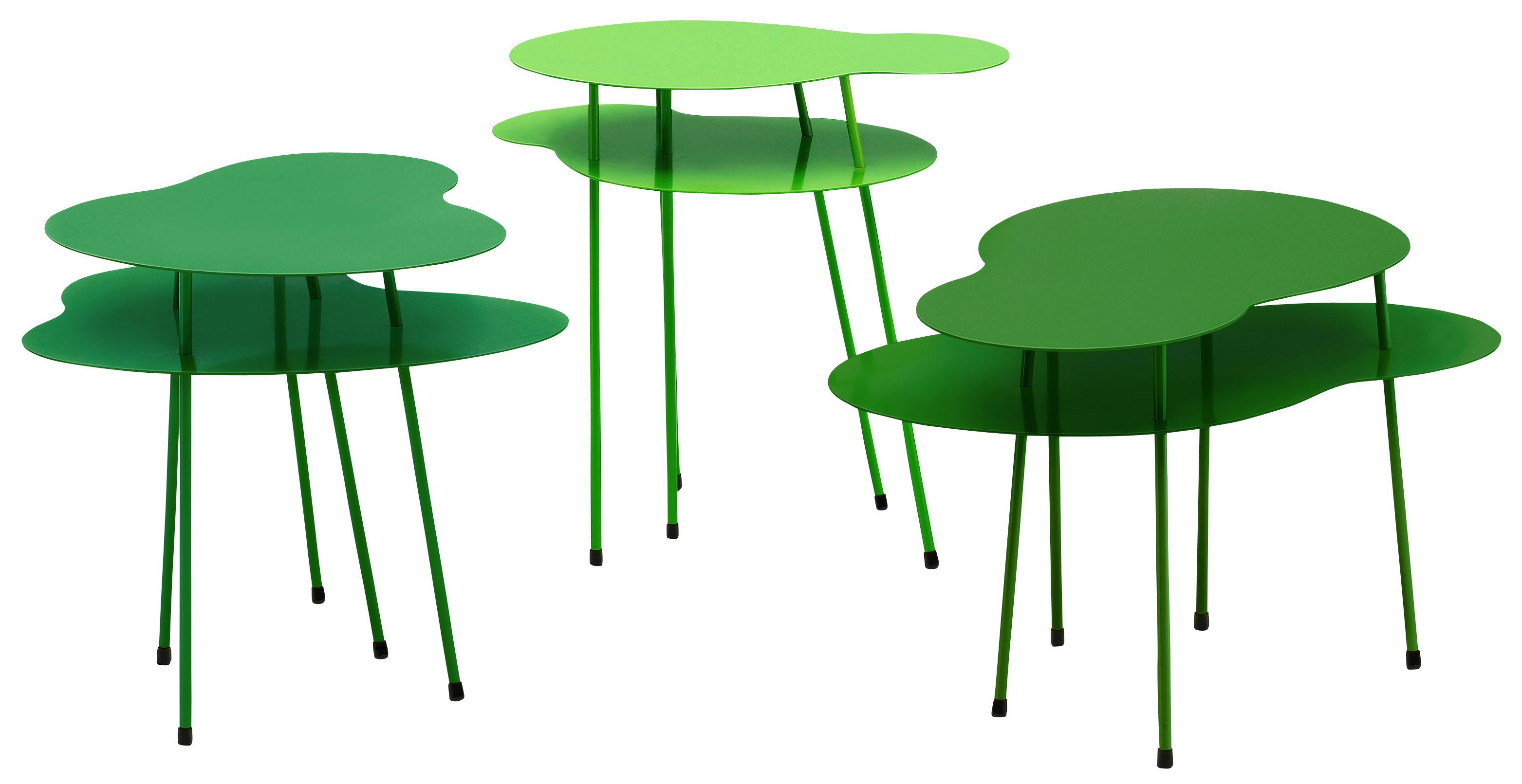 Table basse amazonas ensemble de 3 tables 3 nuances de for Set de table rigide design