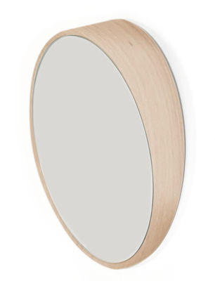 Miroir Odilon Small / Ø 25 cm - à poser ou suspendre - Hartô chêne en verre