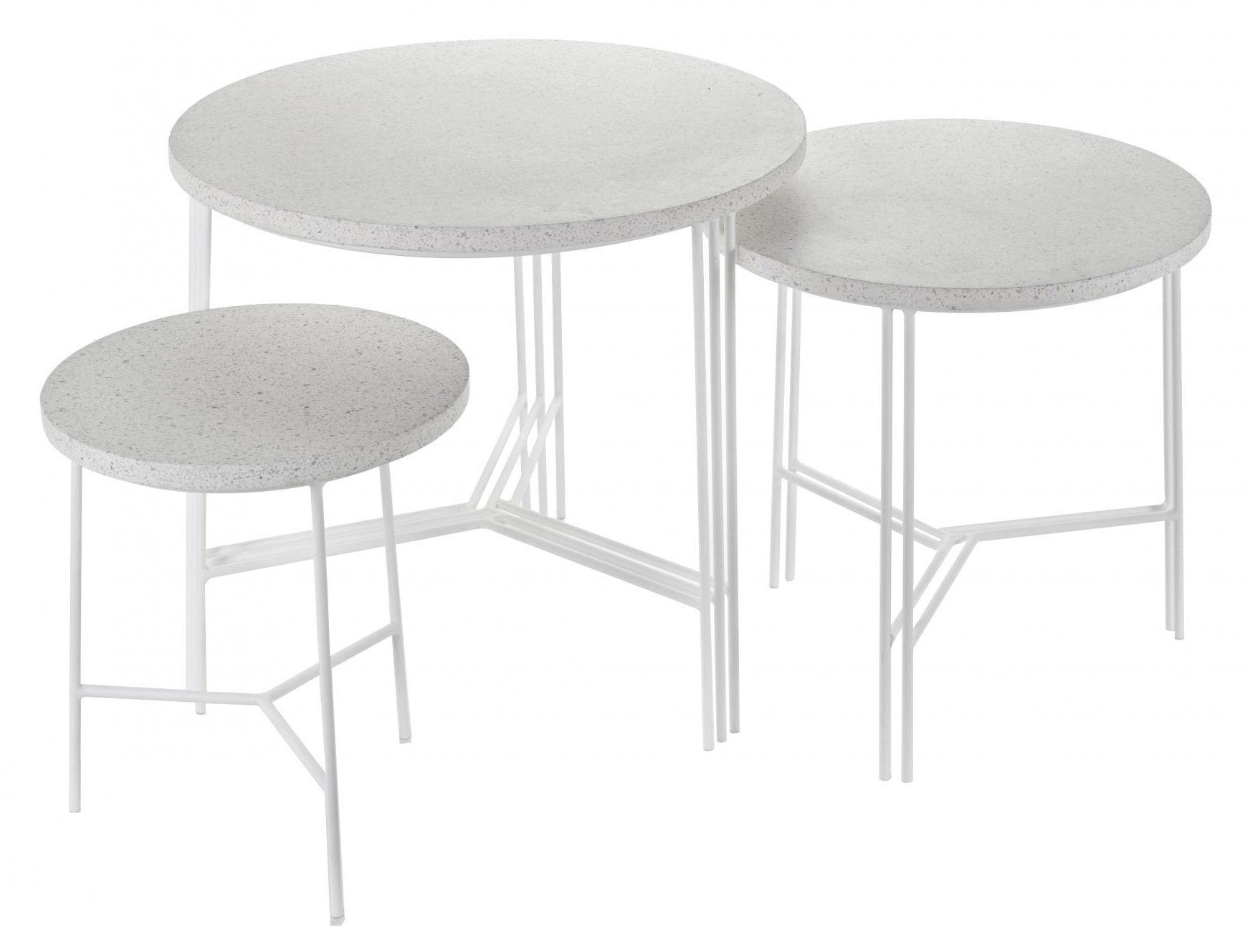 table basse terrazzo 40 x h 40 cm terrazzo blanc pied blanc serax. Black Bedroom Furniture Sets. Home Design Ideas
