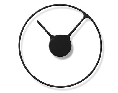 Déco - Horloges  - Horloge murale Stelton Time Large /  Ø 30 cm - Stelton - Noir - Aluminium