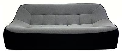 canap droit tchubby by ora ito xl l 200cm noir gris chin passepoil noir dunlopillo. Black Bedroom Furniture Sets. Home Design Ideas