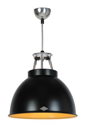 Luminaire - Suspensions - Suspension Titan 1 / Métal - Ø 36 x H 36 cm - Original BTC - Noir / Intérieur bronze - Aluminium