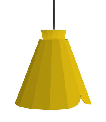 Suspension Ankara Medium / Ø 22 x H 21 cm - Matière Grise jaune en métal