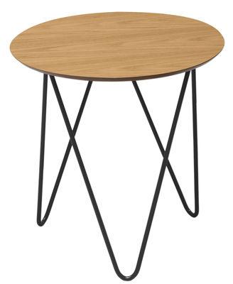 Table Basse Bergerac Mod Le Haut H 38 Cm Noir Ch Ne