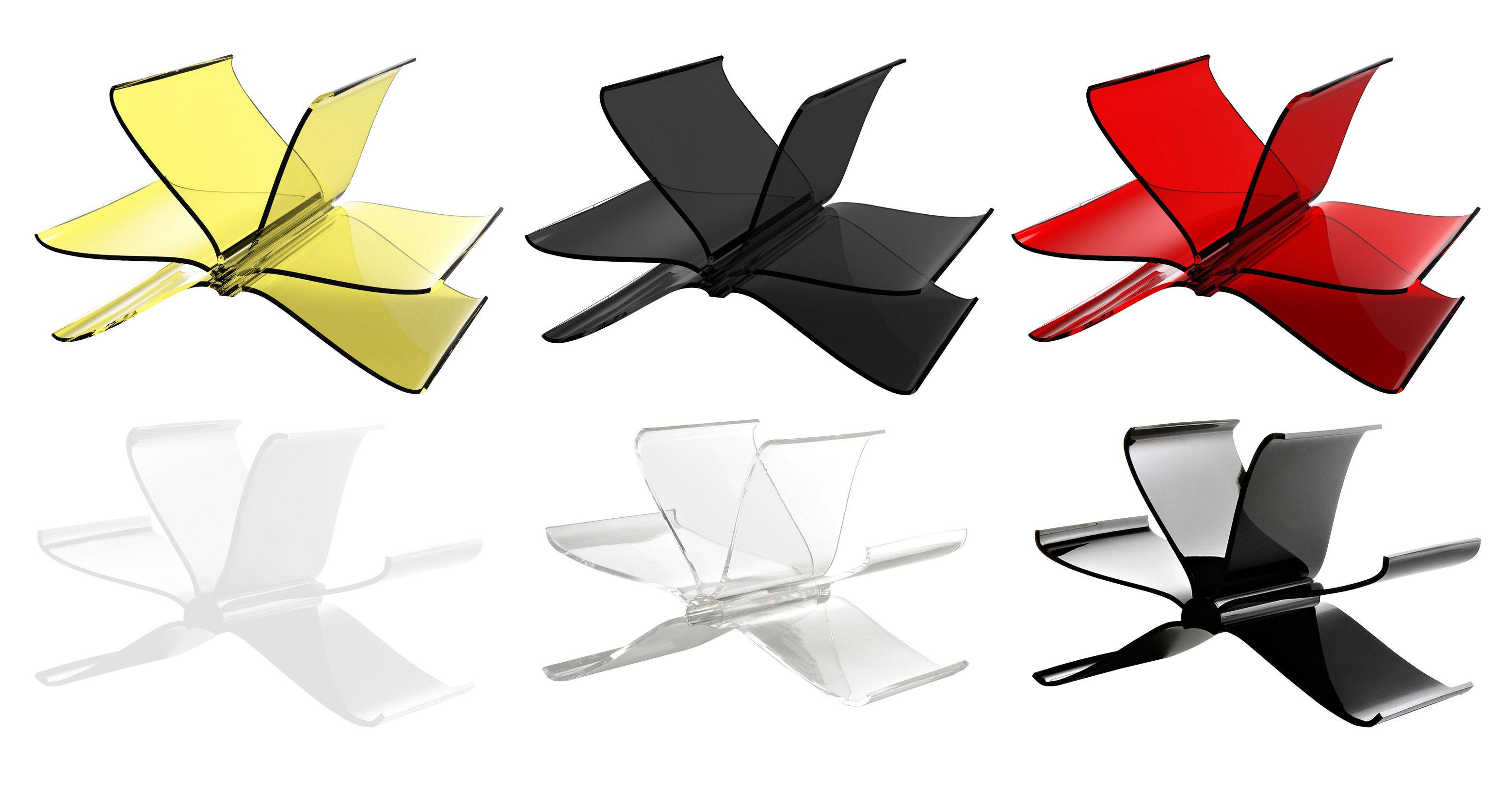 porte revues front page cristal kartell. Black Bedroom Furniture Sets. Home Design Ideas