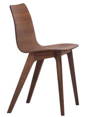 Mobilier - Chaises, fauteuils de salle à manger - Chaise Morph / Bois - Zeitraum - Noyer - Noyer massif