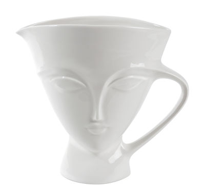 Foto Decanter Giuliette / 204 cl - Jonathan Adler - Bianco - Ceramica Decantatore
