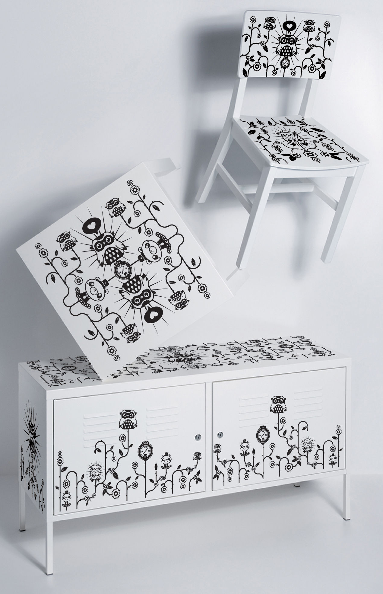 Par tado furniture sticker for the chest of drawers by domestic made in design uk - Stickers mobili ...