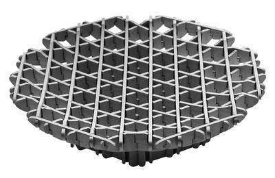 Déco - Corbeilles, centres de table, vide-poches - Coupe Cross / Bois - Ø 30 cm - Spécimen Editions - Gris - Contreplaqué de frêne