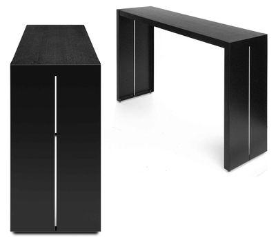 Scopri tavolo alto panco h 110 cm nero l 240 cm di la for Tavolo resina epossidica