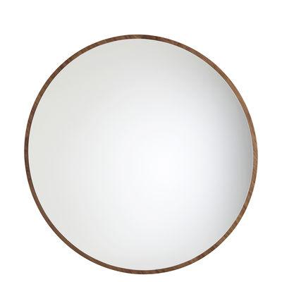 Déco - Miroirs - Miroir mural Bulle moyen modèle / Ø 75 cm - Maison Sarah Lavoine - Noyer huilé - Bois de noyer huilé, Verre
