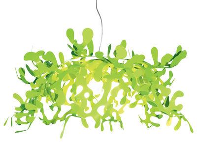 Foto Sospensione Leaves - Ø 55 cm di Lumen Center Italia - Verde - Metallo