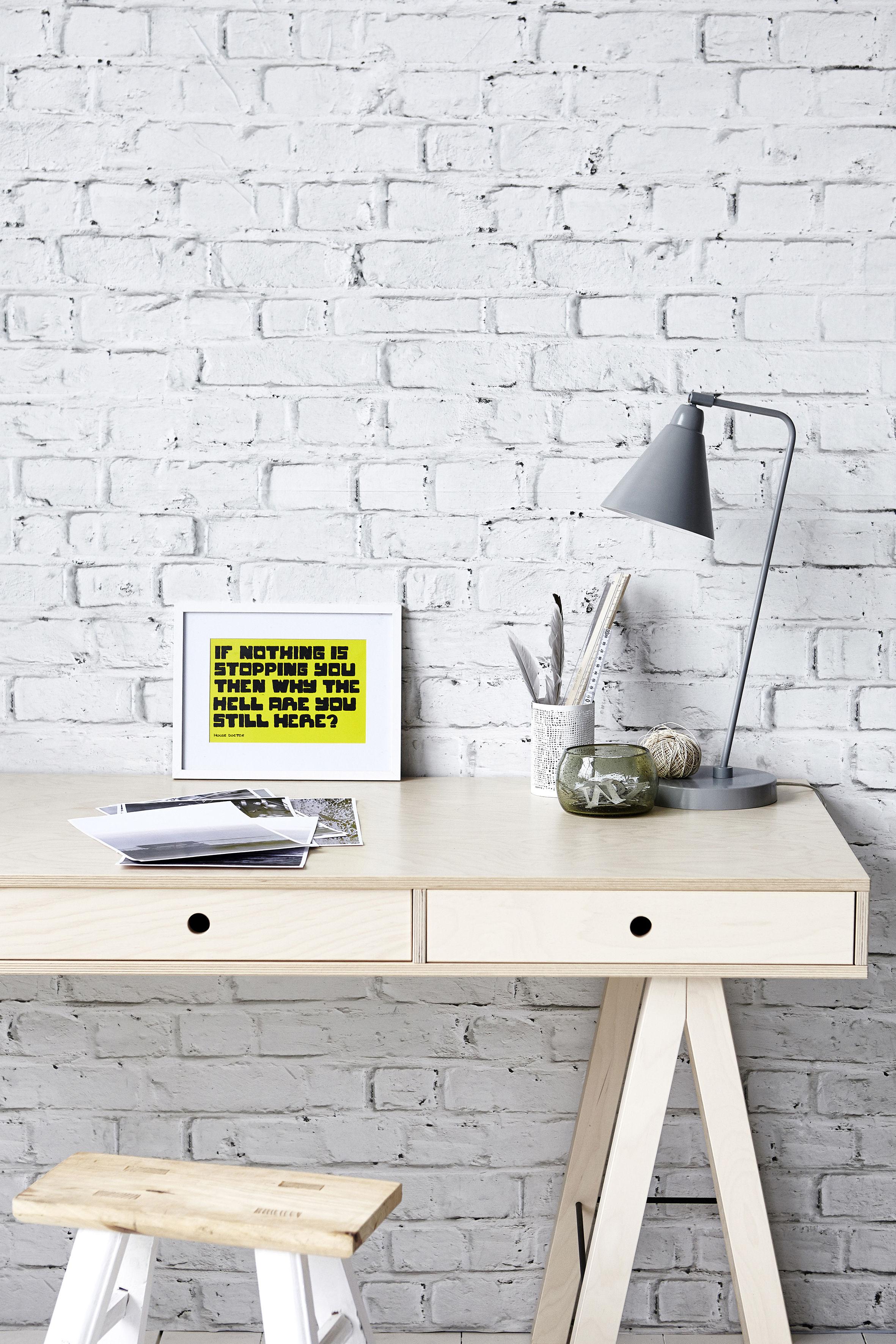 mix schreibtisch l 150 cm 3 schubladen birke natur birke natur by house doctor made. Black Bedroom Furniture Sets. Home Design Ideas