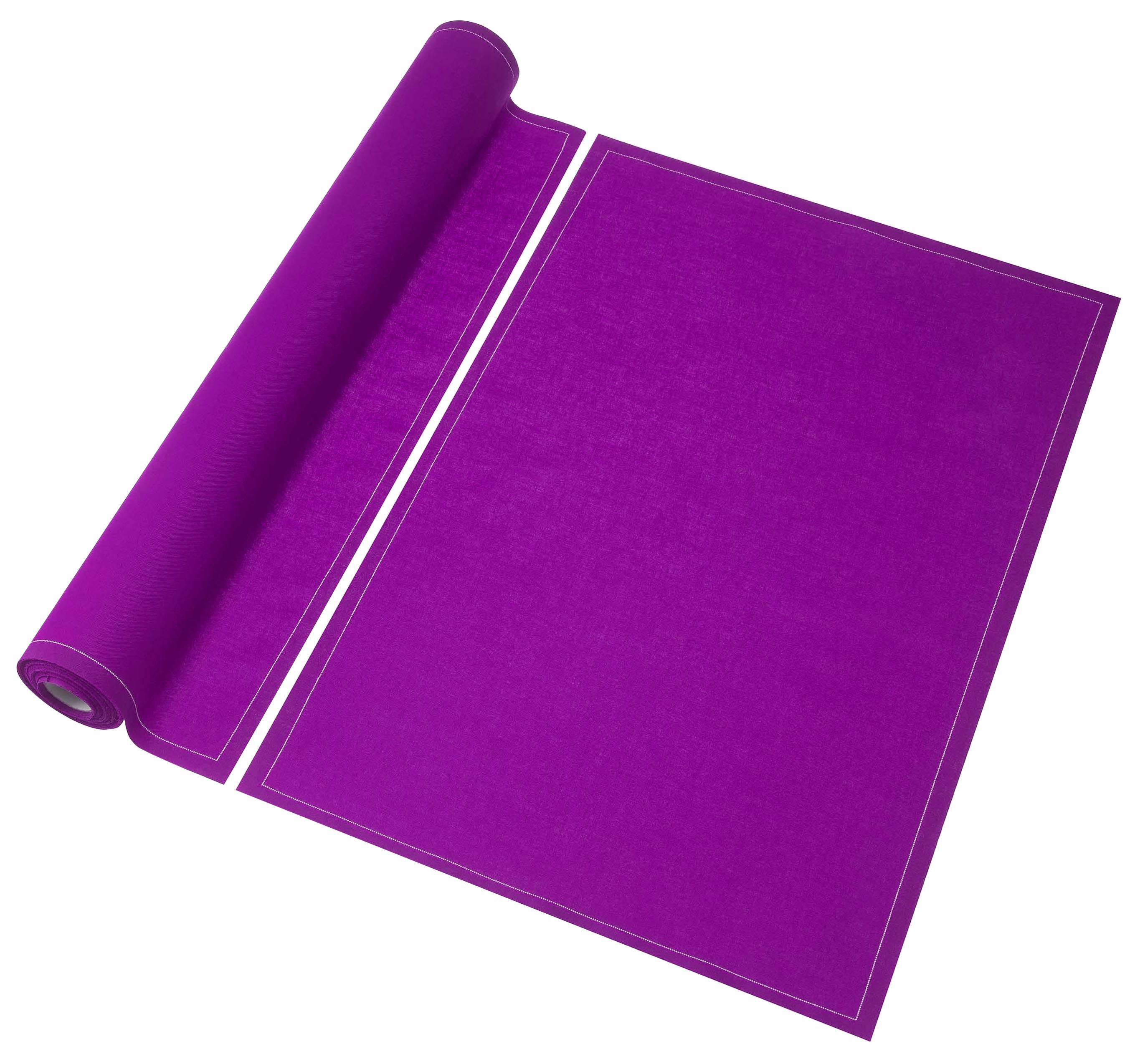Set de table my drap rouleau de 12 sets de table en for Set de table violet