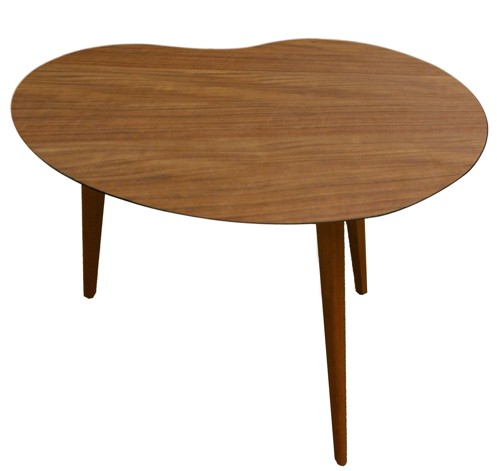 Lalinde coffee table bean large wood legs teak for Large wooden coffee tables