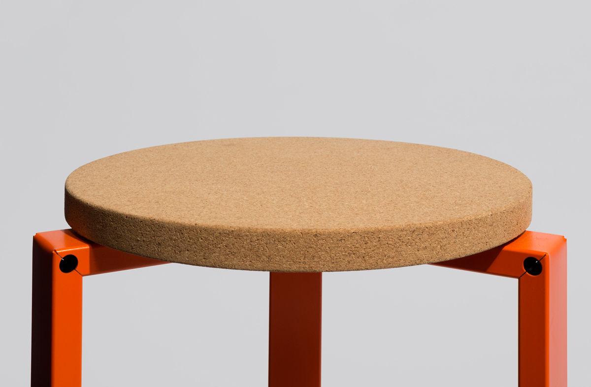 stanley stackable stool dark grey by hay - zoom