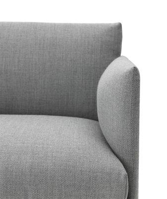 canap droit outline l 170 cm tissu gris pieds noirs muuto. Black Bedroom Furniture Sets. Home Design Ideas
