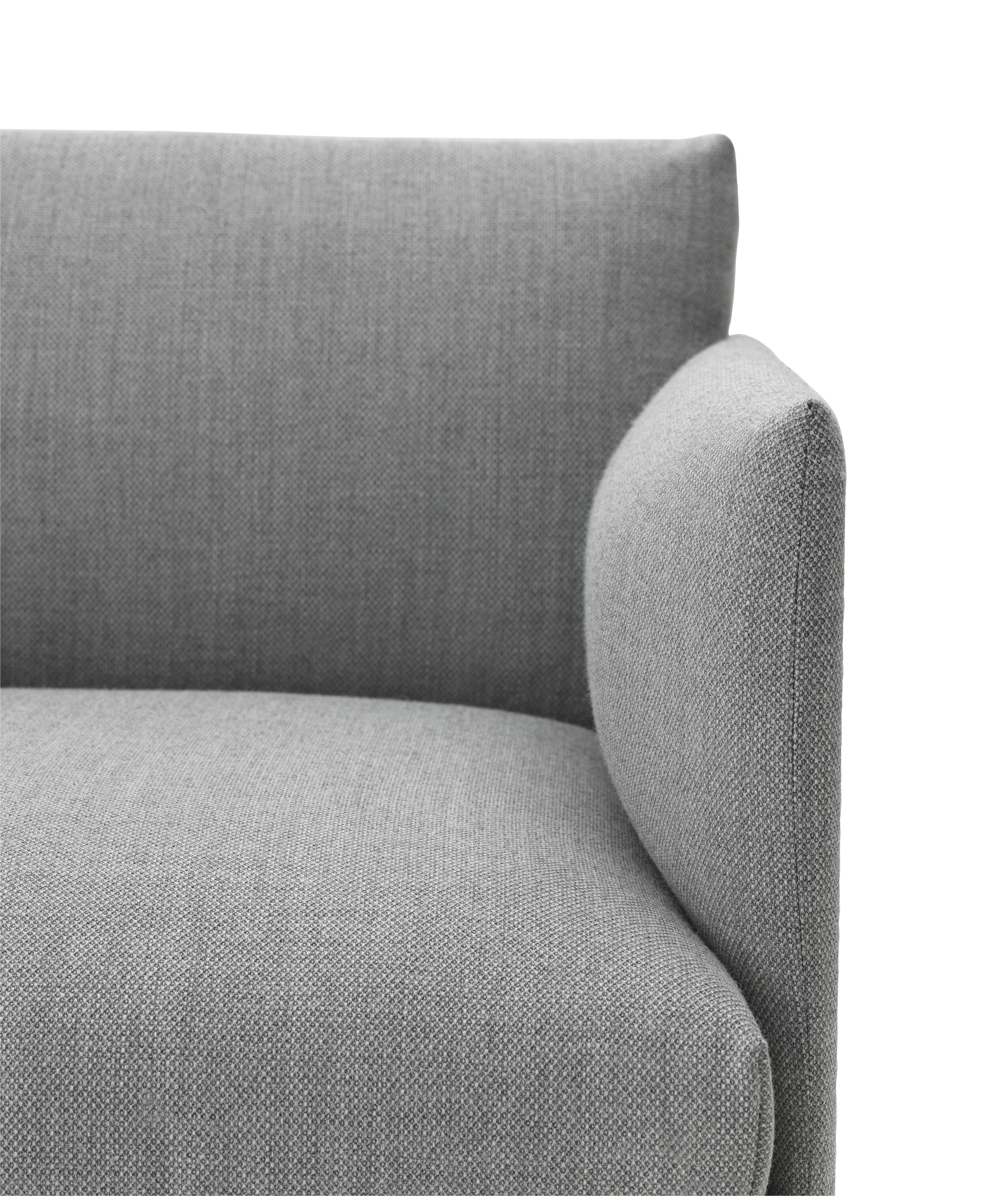 Scopri divano destro outline l 170 cm tessuto grigio gambe nere di muuto made in design - Divano 170 cm ...