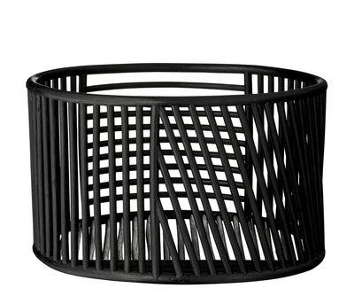 Déco - Paniers et petits rangements - Panier Motus / H 24 x Ø 42 cm - Rotin - AYTM - Bas / Noir - Rotin teinté