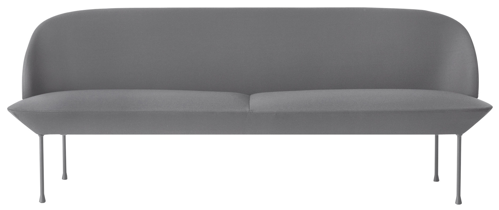 oslo sofa l 200 cm 3 sitzer hellgrau by muuto made in design. Black Bedroom Furniture Sets. Home Design Ideas