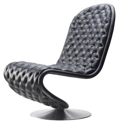 1 2 3 leder mit capitonn steppung panton 1973 verpan niedriger sessel. Black Bedroom Furniture Sets. Home Design Ideas