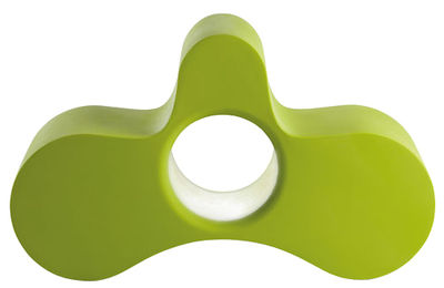 Poltrona Wheely - con doppia seduta / Tavolo basso di Slide - Verde - Materiale plastico