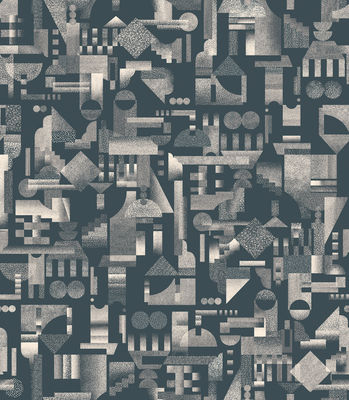 Papier peint Utopia Ascending / 1 rouleau - larg 52 cm - Petite Friture noir en papier
