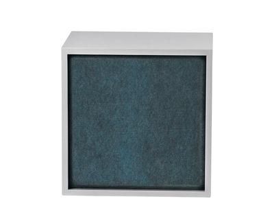 Foto Pannello fonoassorbente / Per mensola Stacked Medium - 43x43 cm - Muuto - Blu aqua - Tessuto Panneau acoustique