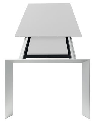 Table à rallonge Nori / L 139 à 214 cm - Kristalia blanc,aluminium en métal