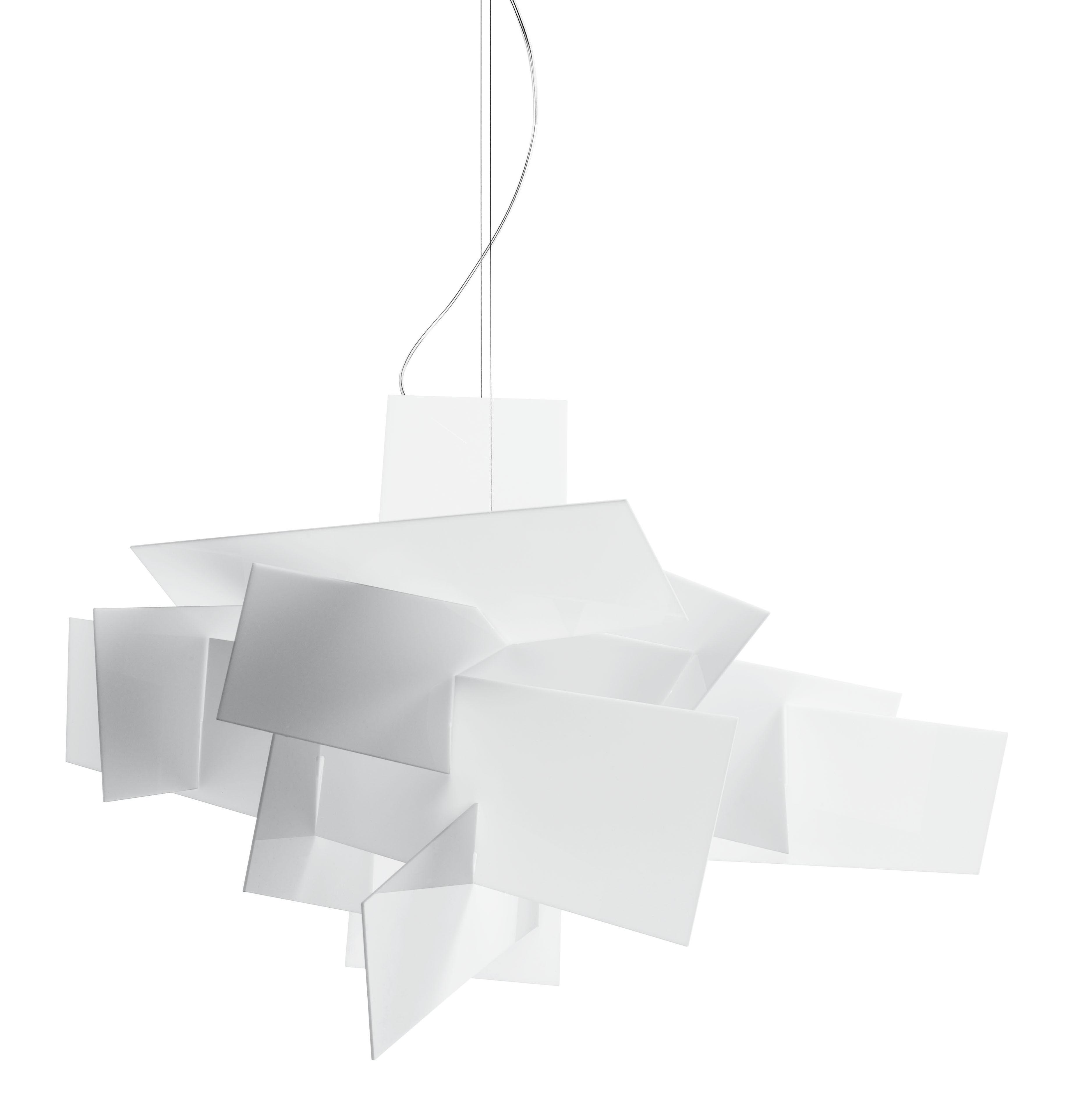 suspension big bang 96 cm blanc foscarini. Black Bedroom Furniture Sets. Home Design Ideas
