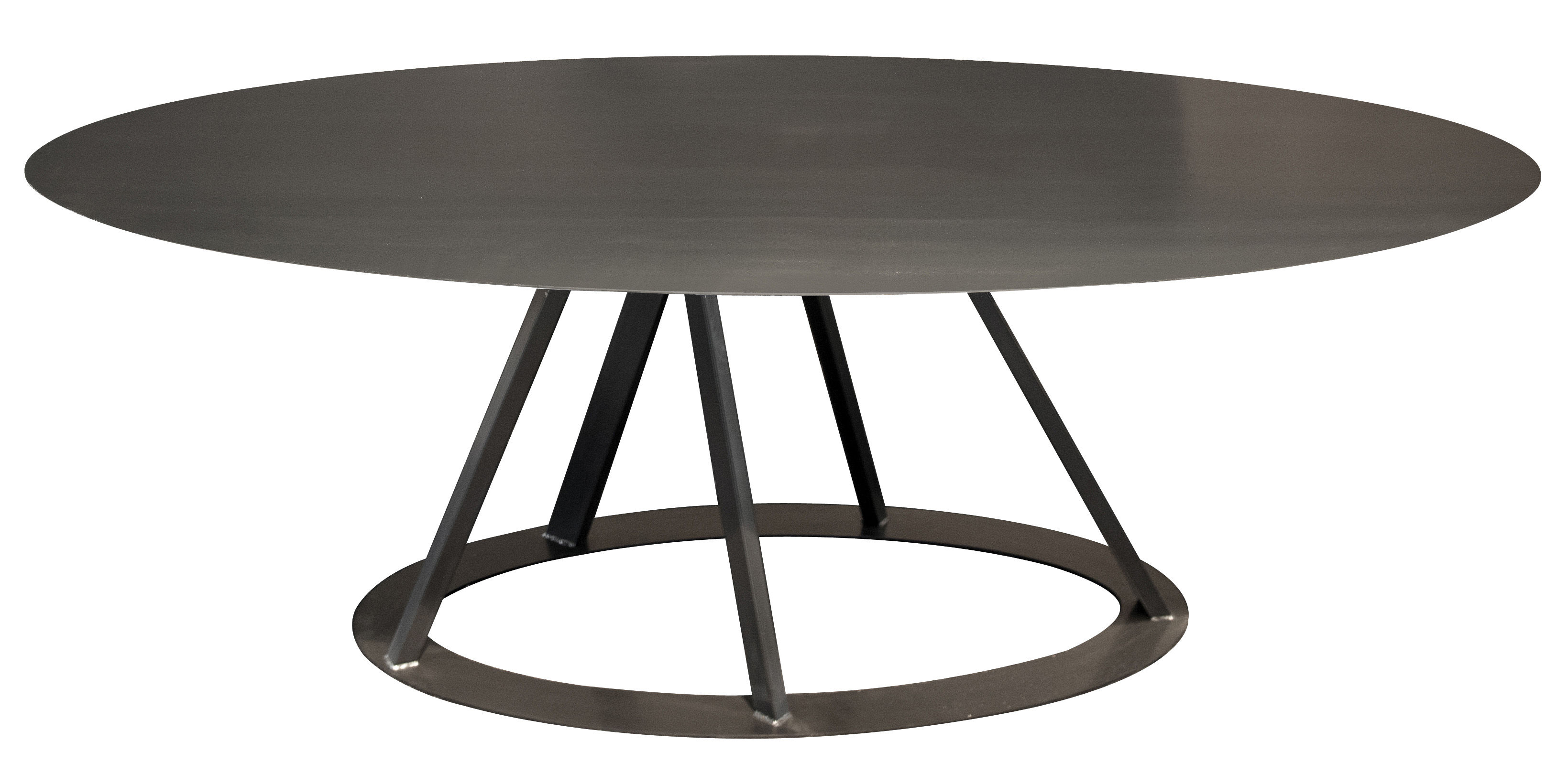 big irony table 220 x 110 cm oval table black copper by zeus. Black Bedroom Furniture Sets. Home Design Ideas