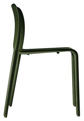 Foto Sedia impilabile First Chair di Magis - Verde oliva - Materiale plastico