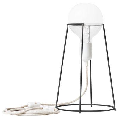 Lampe de table Agraffé / H 37 cm - ENOstudio Gris foncé en Métal