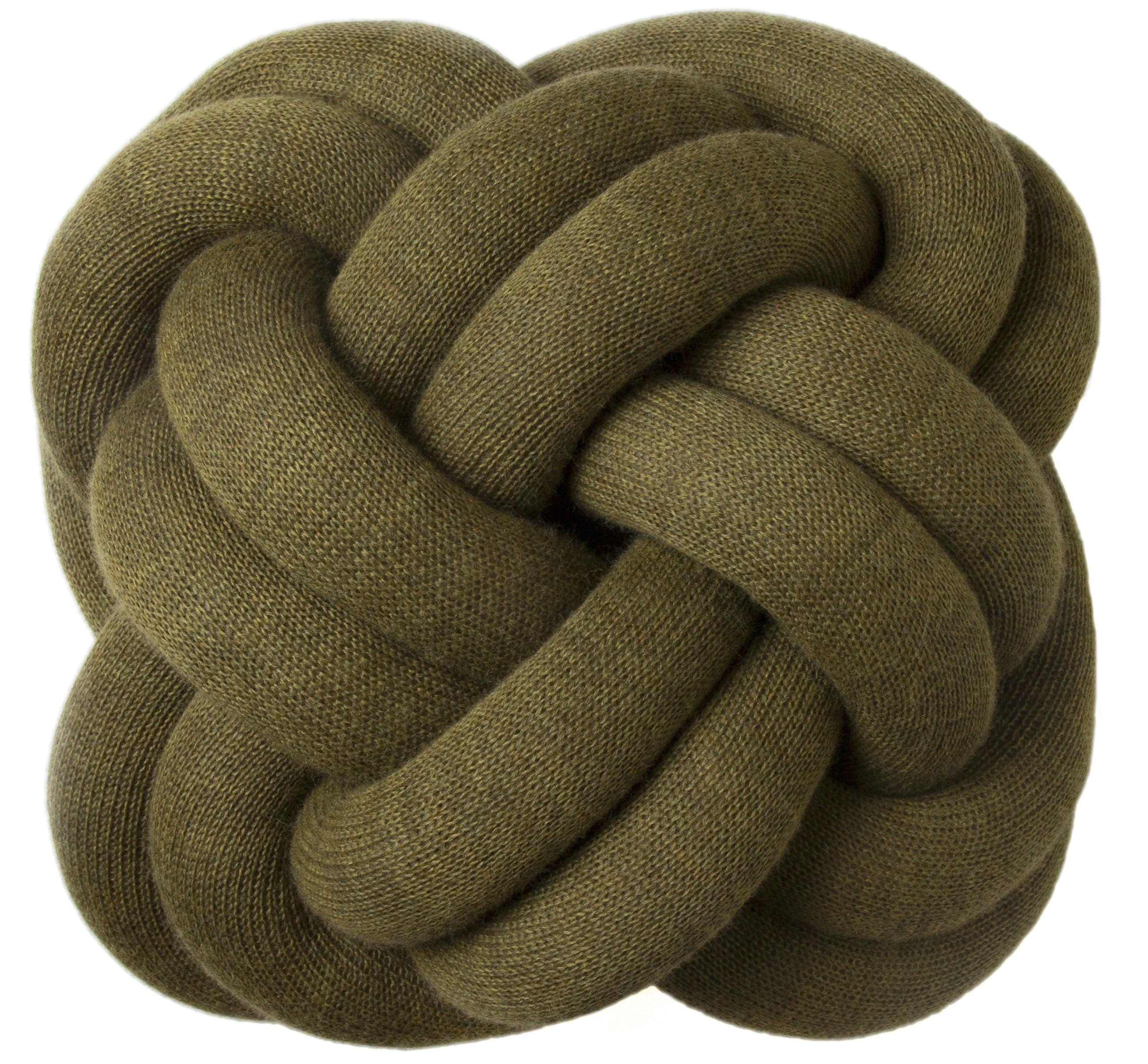 coussin knot vert kaki design house stockholm made in design. Black Bedroom Furniture Sets. Home Design Ideas