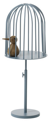 Déco - Objets déco et cadres-photos - Présentoir Nendo Birdcage / Table d'appoint - Wästberg - Bleu - Acier