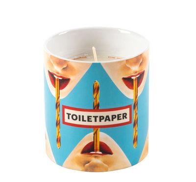 Déco - Bougeoirs, photophores - Bougie parfumée Toiletpaper - Drill / Porcelaine - Seletti - Drill / Bleu - Cire naturelle, Porcelaine