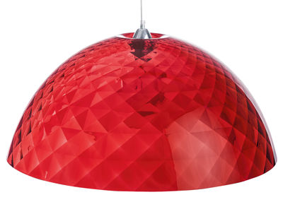 Foto Sospensione Stella XL - Ø 66,9 cm di Koziol - Rosso trasparente - Materiale plastico